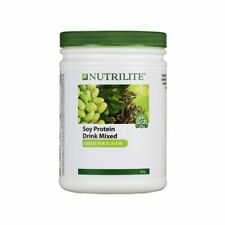 4 x 450g Amway Nutrilite Soy Protein Drink Low Fat Green Tea Flavor