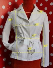 LINEAEMME by MAX MARA sz 36  us 6 trench coat jacket 100% cotton women