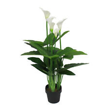 Artificial 107cm White Calla Lily Magnolia Flower Realistic Potted Plant Flowers