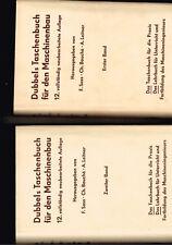Dubbels Taschenbuch für den Maschinenbau, zwei Bände