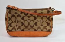 Authentic Coach Signature Logo Tan Cluch Purse  Bag J15-6094