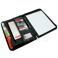 A4 con zip Conference Folder business ECOPELLE documento Borsa Custodia Portafoglio