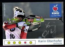 Karin Oberhofer Autogrammkarte Original Signiert Biathlon + A 122361