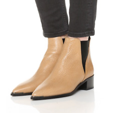 ACNE STUDIOS Jensen Ankle Boots Beige / Wheat Grain Leather Size 36 / US 6