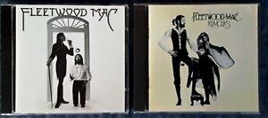 FLEETWOOD MAC - SELF TITLED - REPRISE CD + RUMOURS - WB -  2 CD LOT