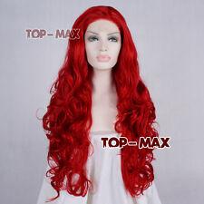 28 inches Partei rote lockig Lace Front Wig Spitze Vorder Perücke hitzebeständig