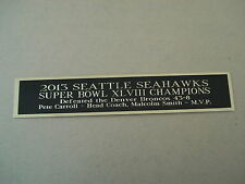 Seattle Seahawks Super Bowl 48 Nameplate For A Football Jersey Case 1.5 X 6