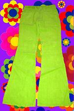 17✪ Mega Cord Schlaghose Retrohose 70er Jahre Hippie Woodstock neongrün Gr. 36