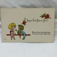 Vintage Postcard Embossed Happy New Year Greeting