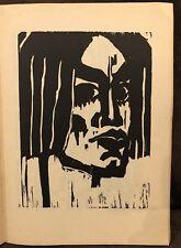 VINTAGE EMIL NOLDE WOODCUT PRINT, 1947, WOMAN HEAD ,RUDOLF HOFFMANN BLOCK 3