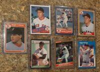 (7) Roger Clemens 1985 1986 Donruss Fleer Topps Rookie 2nd Card Lot RC 1987 Sox