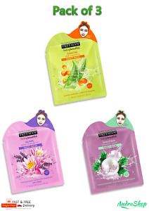 Freeman Sheet Face Masks Set Bundle with Serum for Dry Normal Combo Oily Skin