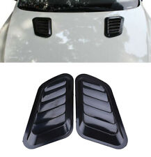 2x Car ABS Decorative Intake Scoop Turbo Bonnet Vent Cover Hood FENDER Black