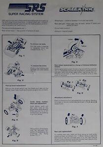 SCX SRS2 Instruction leaflet