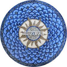 """72"""" Blue Marble Restaurant Modern Table Top Handmade Inlay Art Christmas Decor"""