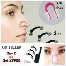 6 Pcs Nose Up Lifting Shaping Set Clipper Shaper Beauty Tool 3 Size + Free Clip