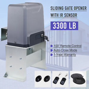 6M Rack ROMYIX Electronic Gate Operator 2000kg Automatic Sliding Gate Opener Kit 750W Electric Motor