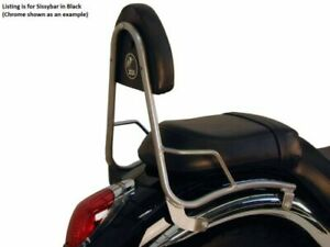 Kawasaki VN900 Clásico / a Medida Vulcan Sissybar Sin Trasero Estante - Negro