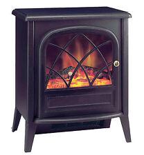 Heater Electric Fire Place 2000W Watt Free Standing Flame Heat Black Log NEW