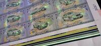 Auto Bank 5 Dollars Uncut Sheet of 48 bills car banknote Porsche Ferrari BMW  UV