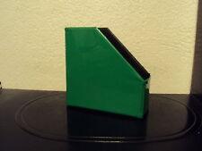Schallplattenständer, aus PVC, faltbar, grün