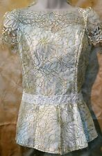 Cambodian/Khmer Lace Blouse(White/Gold)