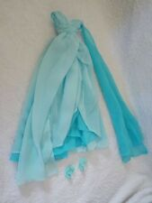 """Barbie Doll Silkstone  """" Blue Chiffon Ball Gown """" Evening Gown & Shoes Only"""