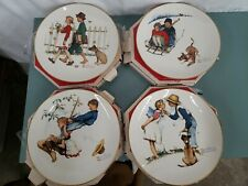 1972 Norman Rockwell Four Seasons Plate Set