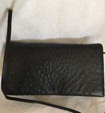 Large Vintage GENUINE OSTRICH LEATHER Classic Clutch/Shoulder Bag / Handbag