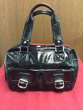 Nice  Michael Kors Ranger Black Patent Leather Medium Satchel Double Pockets GUC