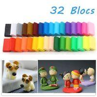 32pcs DIY Craft Malleable Fimo Polymer Modelling Soft Clay Block Plasticine *