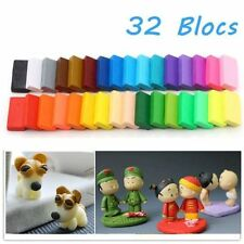 32pcs DIY Craft Malleable Fimo Polymer Modelling Soft Clay Block Plasticine *