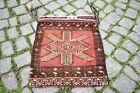 Fabulous Antique Rare Tribal Bag Rug 18'' x 20'' Collector's Piece Torba Rug