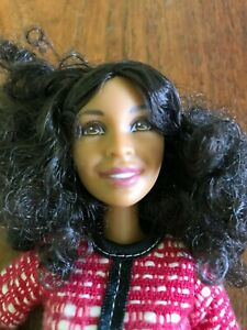 Barbie Black doll with curly hair beautiful dressed African Amerian