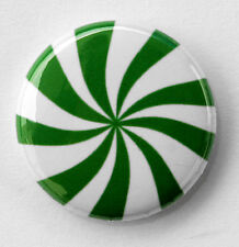 "WINTERGREEN MINT - Fun Button Pinback Badge 1"" Green"