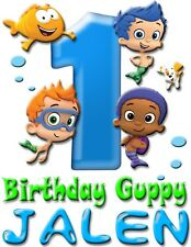 Bubble Guppies Birthday Boy Shirt Add Name AGE Personalized Family Party