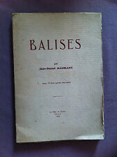 MAUBLANC Jean-Daniel - Balises.- 1936 - Ex. sur alfa mousse Navarre -