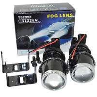Halogen Universal Projector fog lights kit Len 55w H3 headlight DRIVING Lamp 12v