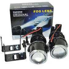 Safego 2X 55W H3 Halogen Bulbs Universal Projector Fog Lights Lens Driving Lamps