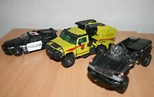 3 x Vintage Transformers Toys Cars 4x4 Vehicle, Fire Department, Police 643
