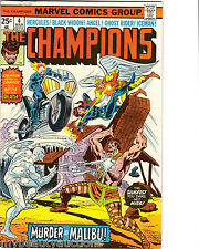 Marvel Comics The Champions Vol. 1. # 4. March, 1976. N/M. Hercules / Iceman.