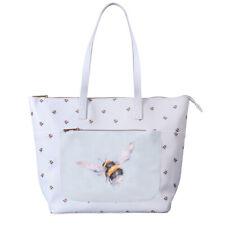 Wrendale Designs Shoulder Bag Bumble Bee Blue Everyday Bag Shopping Bag Bees
