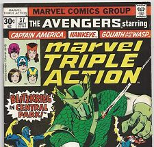 AVENGERS #45 Reprint in MARVEL TRIPLE ACTION #37 from Sep.1977 in VG- con.