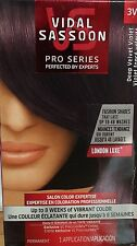LOT OF 2 VIDAL SASSOON PRO SERIES, LONDON LUXE SHADE DEEP VELVET VIOLET, 3VR
