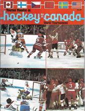 Hockey Canada Tournament 1978 Official Program USSR Russia Canada USA Czech