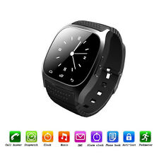 SmartWatch Phone Bluetooth Smart Wrist Phone Mate for IOS Android iPhone Black