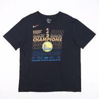 NIKE NBA 2018 Golden State Warriors Black Sports Short Sleeve T-Shirt Mens XL
