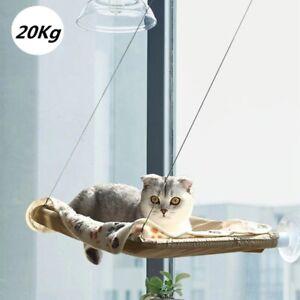 Pet Cat Kitten Hammock Bed Window Wall Mounted Hanging Bed Shelf Cat Perch Seat
