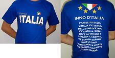 MAGLIA ITALIA INNO NAZIONALE TAGLIA L MAGLIETTA BRASILE 2014 REGALO GADGET ITALY