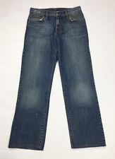 Dolce Gabbana jeans uomo usato straight denim blu w32 tg 46 vintage strappati